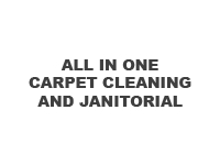 logo ALL IN ONE CARPET CLEANING AND JANITORIAL